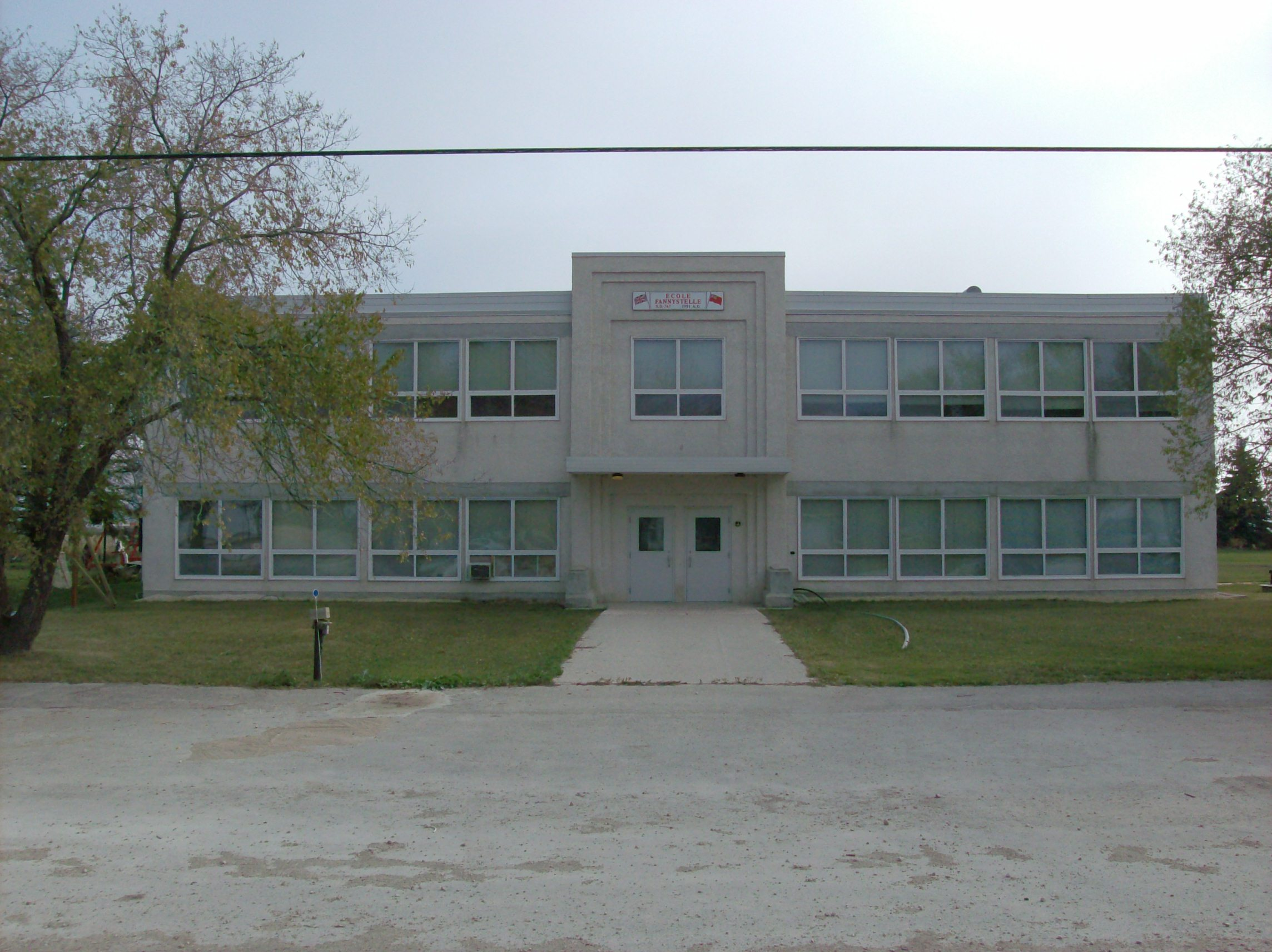 D Front Elevation Of School : Manitoba heritage building fannystelle school readreidread