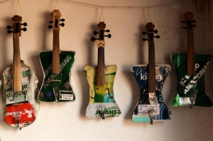 Violins made of garbage