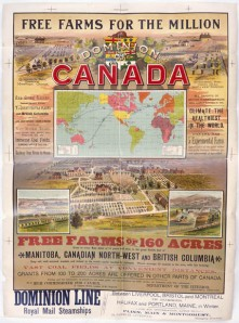 Canada West Poster 1890s