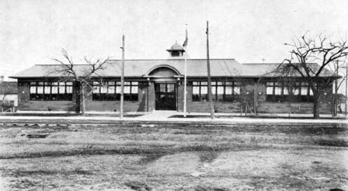Early view of Anna Gibson School