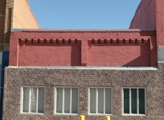 Brick detail on one-storey