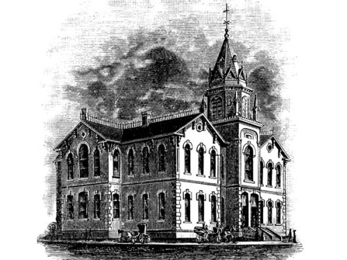The first Central School #1, an ornate design by architect