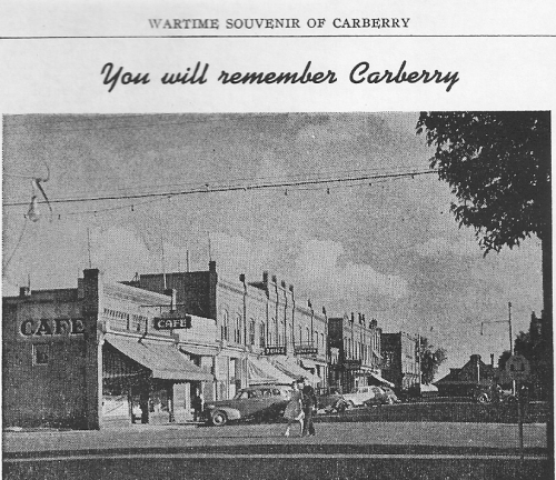 CARBERRY MAIN STREET LOOKING SOUTH, NEW HARDTOP, 1942