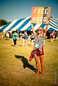 Folk Fest hugs
