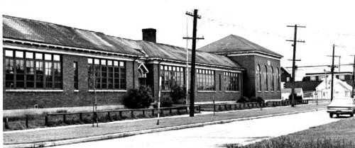 Side view of Margaret Scott School